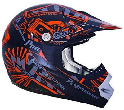 CKX 183962 TX-218 Pursuit Juniors/Kids/ Youth Full Moto Helmet, Green/Black, Small [C Motorbike Helmet(Black)