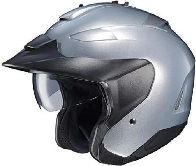 HJC Helmets HJC IS-33 II Open-Face Motorcycle Helmet (Silver, X-Large) [CAT_6484] Motorbike Helmet(Silver)
