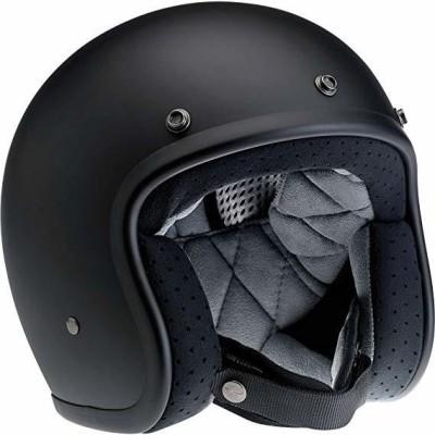 Biltwell Bonanza Half Helmet (Flat Black, Large) [CAT_84778] Motorbike Helmet(Black)