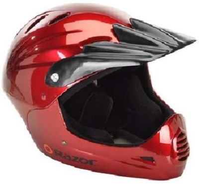 Razor Full Face Youth Helmet Black Cherry [CAT_6369] Motorbike Helmet(Red)