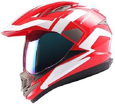 1Storm Dual Sport Helmet Motorcycle Full Face Motocross Off Road Bike Racing Red White [C Motorbike Helmet(White)