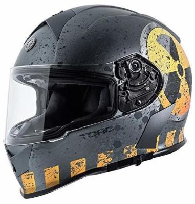 Torc T14 Mako Nuke Full Face Helmet (Flat Grey, X-Small) -- flat grey nuke [CAT_6369 Motorbike Helmet(Multicolor)