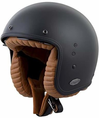 Scorpion Exo Belfast 3/4 Open Face Helmet (Matte Black, Large) [CAT_6484] Motorbike Helmet(Black)