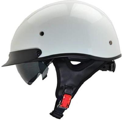 VEGA Helmets Unisex-Adult Half (Pearl White, X-Large) [CAT_84778] Motorbike Helmet(White)