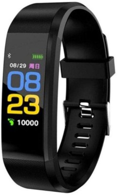 I-Birds Enterprises ID115 Fitneess Smart Band(Black Strap, Size : Free)