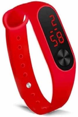 jayastraders Smart Kids Watch led(Red Strap, Size : M)