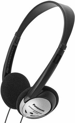 Panasonic Headphones On-Ear Lightweight with XBS RP-HT21 Wired Headset(Black, Silver, On the Ear)