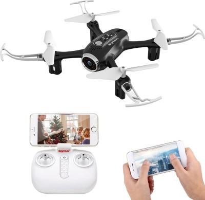 Hawkister Syma X22SW Mini FPV Camera RC Drone Altitude Mode App Control Quadcopter, 1 Battery(Black)