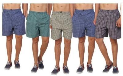 SDFashion Checkered Men Multicolor Regular Shorts