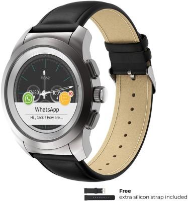 NoiseFit Fusion Hybrid Black Smartwatch(Black Strap Free Size)