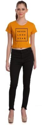 Tees World Casual Half Sleeve Solid Women Yellow Top Tees World Women's Tops
