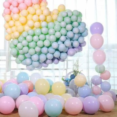 Juneja Enterprises Solid Pastel Balloon(Multicolor, Pack of 50)