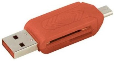 SR86 MICRO OTG SD + TF Card Reader Red