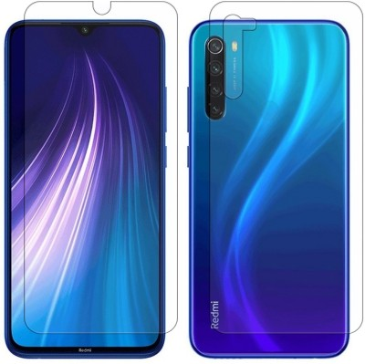 Vonqo Front and Back Screen Guard for Mi Redmi Note 8(Pack of 2)
