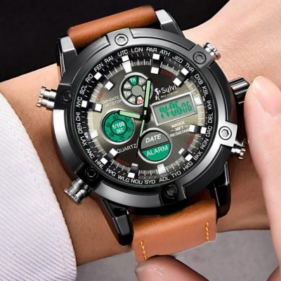 Sylvi Sports Look Designer Collection Premium Quality Top Trending Boys Wrist Analog-Digital Watch  - For Men
