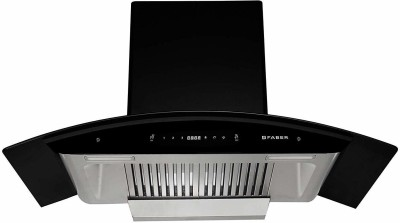 Faber Hood Primus Plus Energy TC HC BK- N Auto Clean Wall Mounted Chimney  (Touch & Gesture Control 1500 CMH)