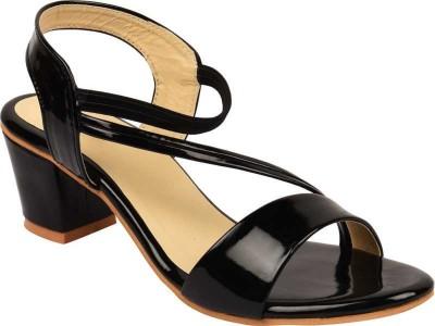 Bullfer Women Black Heels
