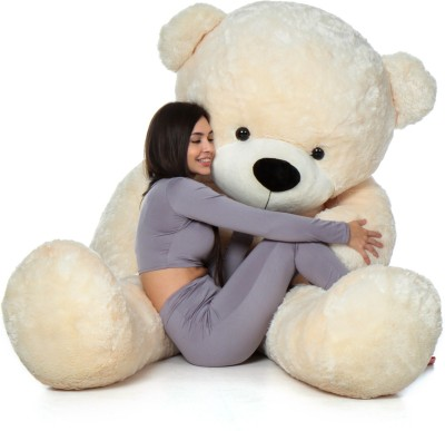 AVS 4 Feet Stuffed Spongy Hugable Imported Teddy Bear  Super Quality  Special For Gift   122 cm Cream AVS Soft Toys