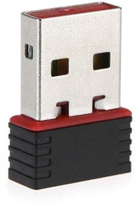 Saleshop365 Wi Fi Receiver 300Mbps, 2.4GHz, 802.11b/g/n USB 2.0 Wireless Mini Wi Fi Network Adapter USB Adapter Black