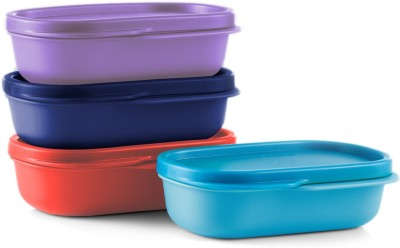 Tupperware Mylunch Inner Container 4pc  - 120 ml Plastic Cookie Jar  (Pack of 4, Blue, Red, Purple)