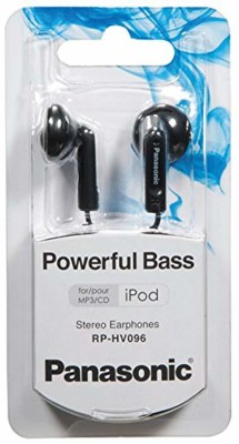 Panasonic Stereo Earbud Headphones Wired Headset without Mic(Black, In the Ear)