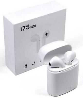 Flexaa Wireless Bluetooth Headphone i7s Tws with mic Bluetooth Headset(White, True Wireless)