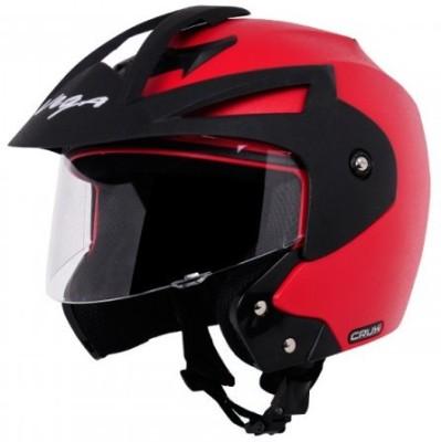 VEGA Crux Open Face Motorbike Helmet Red, Black VEGA Helmets