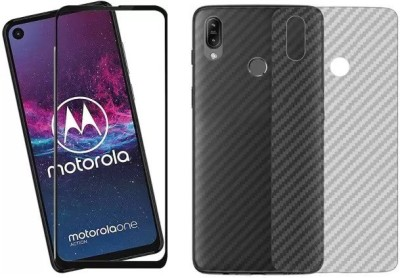 Bigil Screen Protector Accessory Combo for Moto One Action(Black & Transparent)