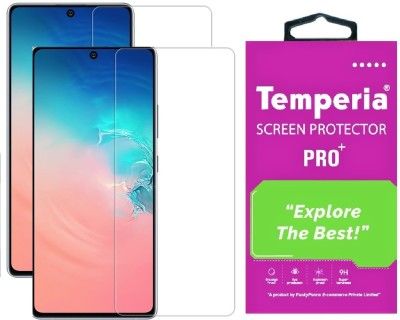 Temperia Tempered Glass Guard for Samsung Galaxy S10 Lite(Pack of 2)