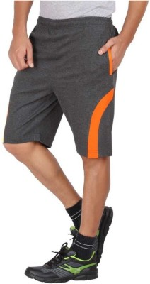 FastColors Solid Men Orange Sports Shorts