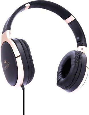 Zebronics ZEB-ELEGANCE Wired Headset(Gold, Black, Wired over the head)