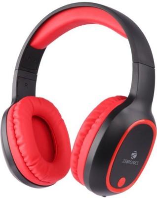 Zebronics ZEB-THUNDER Bluetooth Headset(Black, Red, Wireless over the head)