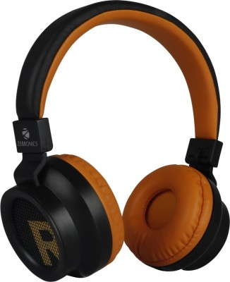 ZEBRONICS ZEB-BANG Bluetooth Headset(Orange, On the Ear)