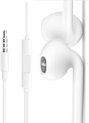 vivo new stylist earphone with mic Wired Headset(White, Wired in the ear)