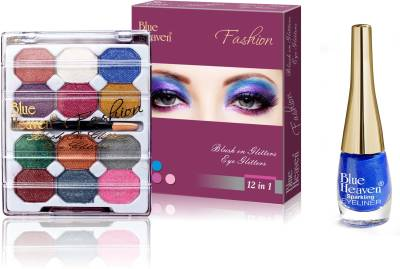 Blue Heaven 2x1 Fashion Eye Shadow & Sparkeling Eyeliner 06 Combo.
