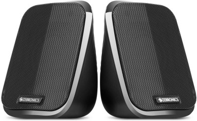 Zebronics FAME 2.0 channel 2.5 W Laptop/Desktop Speaker(Black, 2.0 Channel)