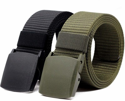 ZORO Men Casual Green, Black Nylon Belt