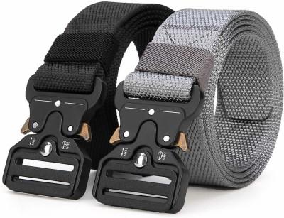 ZORO Men Casual Black, Grey Nylon Belt