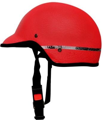Racing Flying unbreakable half face(red) Motorbike Helmet(Red)