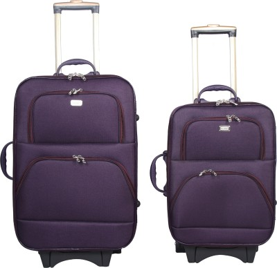 VIDHI Double Pocket Suitcase Trolley Bag Cabin   Check in Luggage   24 inch VIDHI Suitcases
