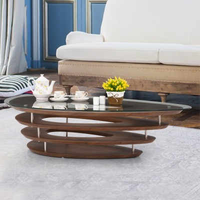 RoyalOak Mary Engineered Wood Coffee Table(Finish Color - Dark Brown)