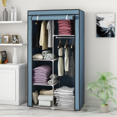 Flipkart Perfect Homes Studio PP Collapsible Wardrobe(Finish Color - Grey)