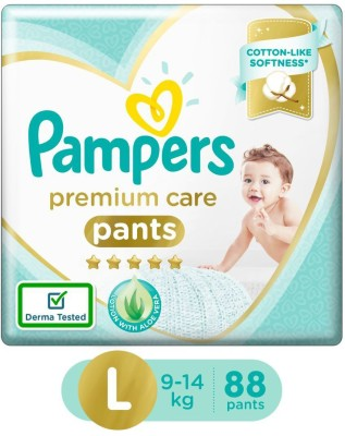 Pampers Premium Care Pants Diapers Monthly Box Pack - L(88 Pieces)