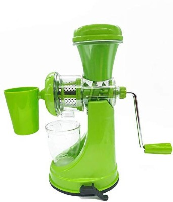 Neroxa Hand Juicer Grinder Fruit And Vegetable Mixer Juicer With Waste Collector And Stainless Steel Handle 0 Juicer(Green, 1 Jar)
