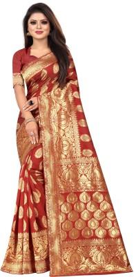 Arav Fab Woven Bollywood Jacquard Saree Multicolor