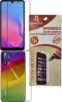 FashionCraft Front and Back Tempered Glass for I Kall k700(Pack of 2)