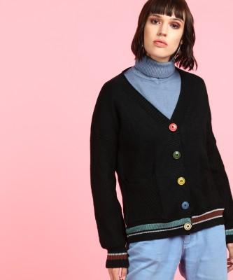 Insua Women Button Striped Cardigan