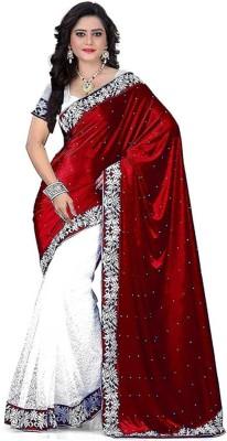 Niyti Fab Embroidered Bollywood Velvet Saree Maroon