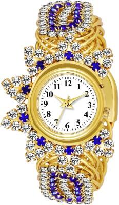 Lizzy LZ- L_610 GOLD ANALOG BRACELET RICH LOOK ROUND DIAL QUARTZ WOMEN WATCH Analog Watch  - For Women