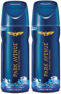 Park Avenue ORIGINAL DEO COOL BLUE 100GM (PACK OF 2) Body Spray  -  For Men & Women(300 ml, Pack of 2)